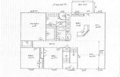 Image result for split level remodel floor plans Split Level Floor Plans, Split Level Remodel, Split Foyer, Ranch, House Ideas, New Homes, Interiors, Organization, Flooring