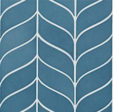 Walker Zanger Avenue Curved Chevron in Marlin Blue Chevron Tile, Blue Chevron, Walker Zanger, Base Moulding, Bath Recipes, House Tiles, Style Tile, Tile Patterns, Blue Nails