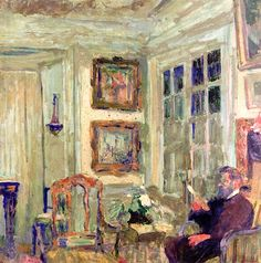 Arthur Fontaine Reading (I) / Edouard Vuillard - 1904