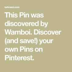 This Pin was discovered by Wamboi. Discover (and save!) your own Pins on Pinterest.