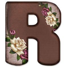 Alphabet Letters Design, Flower Alphabet, Baby Name Letters, Floral Font, Minnie Png, Name Art, Wallpaper Backgrounds, Wallpapers, Lettering Design