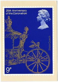 1977 British Stamp - 25th Anniversary of Coronation of Queen Elizabeth II