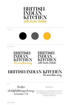Logo and branding for British Indian Kitchen