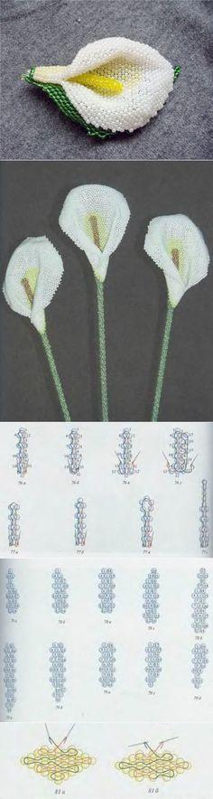 Каллы в мозаичной технике / Цветы / Biserok.org