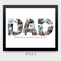Fathers Day Photo Collage Personalized Photo Collage