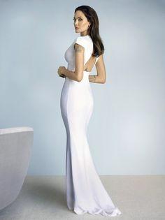 Платье из крепа, Burberry Prorsum