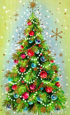 Vintage Christmas Card TreesChristmas Tree WallpaperChristmas