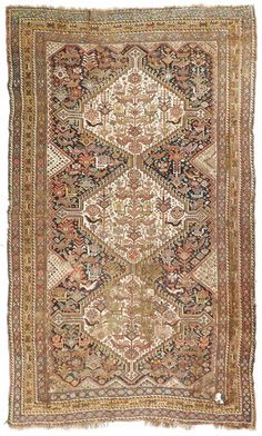 Antique One-Of-a-Kind Hand-Knotted Kashkoli Persian Oriental Area rug is Hand-Weaved by weavers in Persia with Wool Material. This rug is in Very Good (Evenly Low Pile) Condition. Hand Knotted Rugs, Woven Rug, Rug Texture, Rug Runners, Cheap Rugs, Home Rugs, Carpet Runner, Modern Rugs, Persian Rug