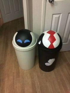 haha, digging the portal trash can