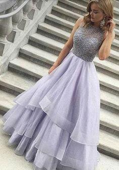 Charming Prom Dress,Sexy Prom Dress,Backless Organza Prom Dresses,Long