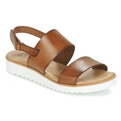 56301c83ef Chaussures Femme Sandales et Nu-pieds Casual Attitude FULIGULE Camel