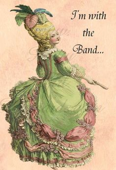 """""""I'm with the Band...""""   Over 130 hilarious Pretty Girl Postcards at prettygirlpostcards on Etsy, $1.95"""