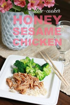 Slow-Cooker Honey Sesame Chicken - A Thoughtful Place