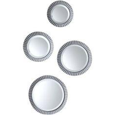 Sage & Co. Covington Abbey 4 Piece Round Tin Mirrored Plate Set (Set of 32)