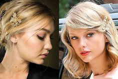 11 Ways to Update The Hairstyles You Wore as a Kid (like these classic, feminine barrette hairstyles on Gigi Hadid and Taylor Swift)   allure.com