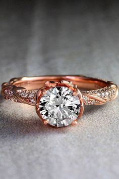 Top Round Engagement Rings ❤ See more: http://www.weddingforward.com/round-engagement-rings/ #weddingforward #bride #bridal #wedding