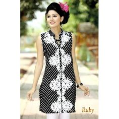 Black #Kurti With White Embroidery Work