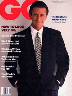 The GQ of the photographed Reagan Era stars Michael Jordan, Tom Cruise and Pat Riley in all their Master of the Universe splendor. I Love La, Man In Love, Showtime Lakers, Sports Magazine Covers, Pat Riley, Best Dressed Man, Purple Reign, New Names, Tom Cruise