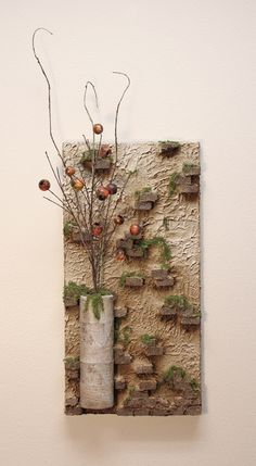 Urban Brick Canvas…inspiration for other projects. Urban Brick Canvas…inspiration for other projects. Art Altéré, Art Mural, Altered Canvas, Mixed Media Canvas, Mixed Media Art, Mix Media, Art Diy, Deco Floral, Canvas Paintings
