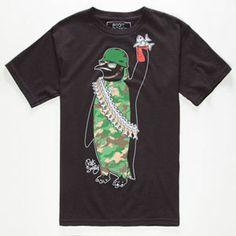 RIOT SOCIETY Camo Penguin Boys T-Shirt