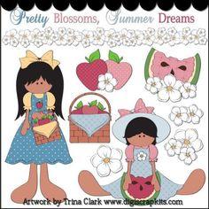Summer Dreams 2 Clip Art - Original Artwork by Trina Clark