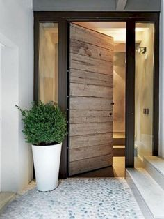 40 Awesome Minimalist Home Door Design You Have Must See . - 40 Awesome Minimalist Home Door Design You Have Must See decor entrance area outside Give gyp - Home Door Design, Front Door Design, Front Door Entrance, Front Door Decor, Modern Entrance Door, Glass Panel Door, Glass Panels, White Interior Doors, Casa Loft