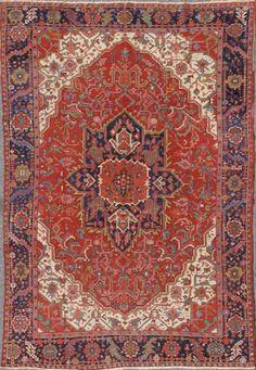 "KEIVAN WOVEN ARTS,   Type :Heriz - Serapi Origin :Iran  Size : 8'1""x11'11""   Circa :1920"