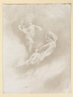 The Stars, four female figures among the clouds Date: 1892 (made) Artist/Maker: Sainton, Charles Prosper (R.) (artist) Materials and Techniques: Silver-point Metal Drawing, Figure Drawing, Silverpoint, Artist Materials, Toned Paper, Work Inspiration, Types Of Art, Cool Art, Art Drawings