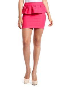 Millennium Peplum Mini Skirt: Charlotte Russe