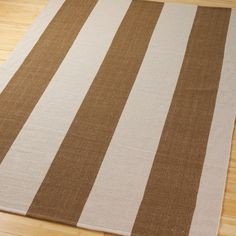 Wide Stripe Cotton Flat Weave Rug - lots of cute rugs & very reasonable  from this site!