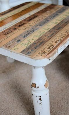 vintage ruler table