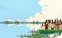 Her Seven Brothers by Paul Goble. Above and Below: Reflections in the Illustrations of Paul Goble. March 20 - August 30, 2015. South Dakota Art Museum.