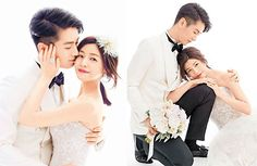 Michelle Chen and Chen Xiao held the first of their 3 wedding banquets in Beijing today.