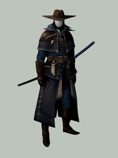 Tagged with art, drawings, fantasy, roleplay, dungeons and dragons; DnD Blood Hunter Class by Matthew Mercer - inspirational Fantasy Character Design, Character Design Inspiration, Character Concept, Character Art, Larp, Fantasy Armor, Dark Fantasy, Fantasy Katana, Fantasy Samurai
