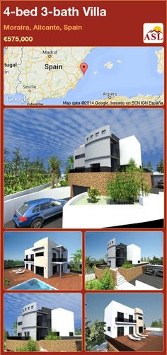 4-bed 3-bath Villa in Moraira, Alicante, Spain ►€575,000 #PropertyForSaleInSpain