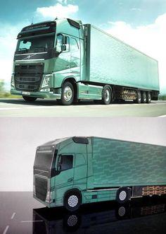 Paper model of the Volvo New FH by bouwplaatvanjeeigentruck.nl