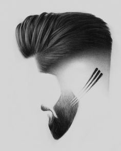 Image may contain: one or more people and closeup Mens Hairstyles With Beard, Cool Hairstyles For Men, Hair And Beard Styles, Hairstyles Haircuts, Haircuts For Men, Long Hair Styles, Gents Hair Style, Beard Art, Hair Barber