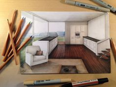 Rendering Manual / Architecture Interior by casoroxart.deviantart.com on @DeviantArt