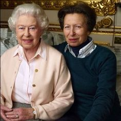 The Queen and her only daughter, the Princess Royal, Princess Anne! #queenat90  #royal #britishroyalfamily