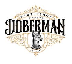 I illustrated this lettering for Doberman Barbería, which takes up the essence…