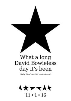 No day is David bowieless, we are all blackstars and he will live forever through his art and the people he has inspired