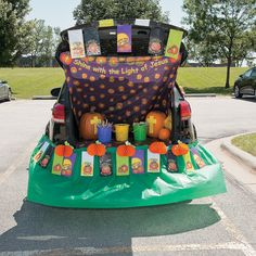 trunk or treat christian pumpkin dcor idea its quick and easy to crate this religious halloween look for your trunk or treat - Christian Halloween Decorations