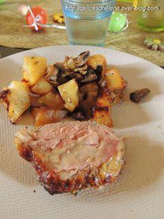 Voici une recette que j'ai réalisé depuis un bon moment déjà et qui plaît au plus grand nombre... Pour 6 personnes 1 rôti de porc (avec un rôti de veau ça fonctionne aussi) 8 tranches de bacon 8 tranches de gruyère 2 cuil. à soupe de basilic une grosse...