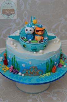 Octonauts Birthday Cake for three year old Octonauts Party