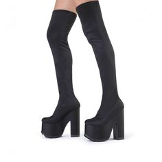 Miista Remi, Black Over the Knee Boots, thigh high | OTK : over ...