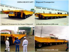 http://www.chinaheavylift.com/shipyard-transporter/  CHINAHEAVYLIFT Shipyard Transporter is mainly used for delivering ship block segment, ship-used machine and huge size equipment within the plant, which posed the characters of hydrostatic driving system, hydraulic suspension with 3 points or 4 points support, and smoothly lifting upward or downward functions.  Email : yoko@chinaheavylift.com Tel : +86 137 7422 2241 (Wechat, WhatsApp)