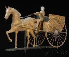 horse and cart weathervane...