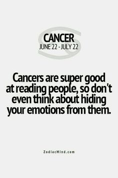 Signs of a cancer