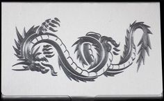 Chinese Dragon Engraved Business Credit ID Card Case Patch Holder Gift BUS-0211