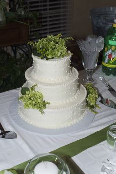 My wedding cake. Not Fondant, but rolled out frozen Cream Cheese Icing.